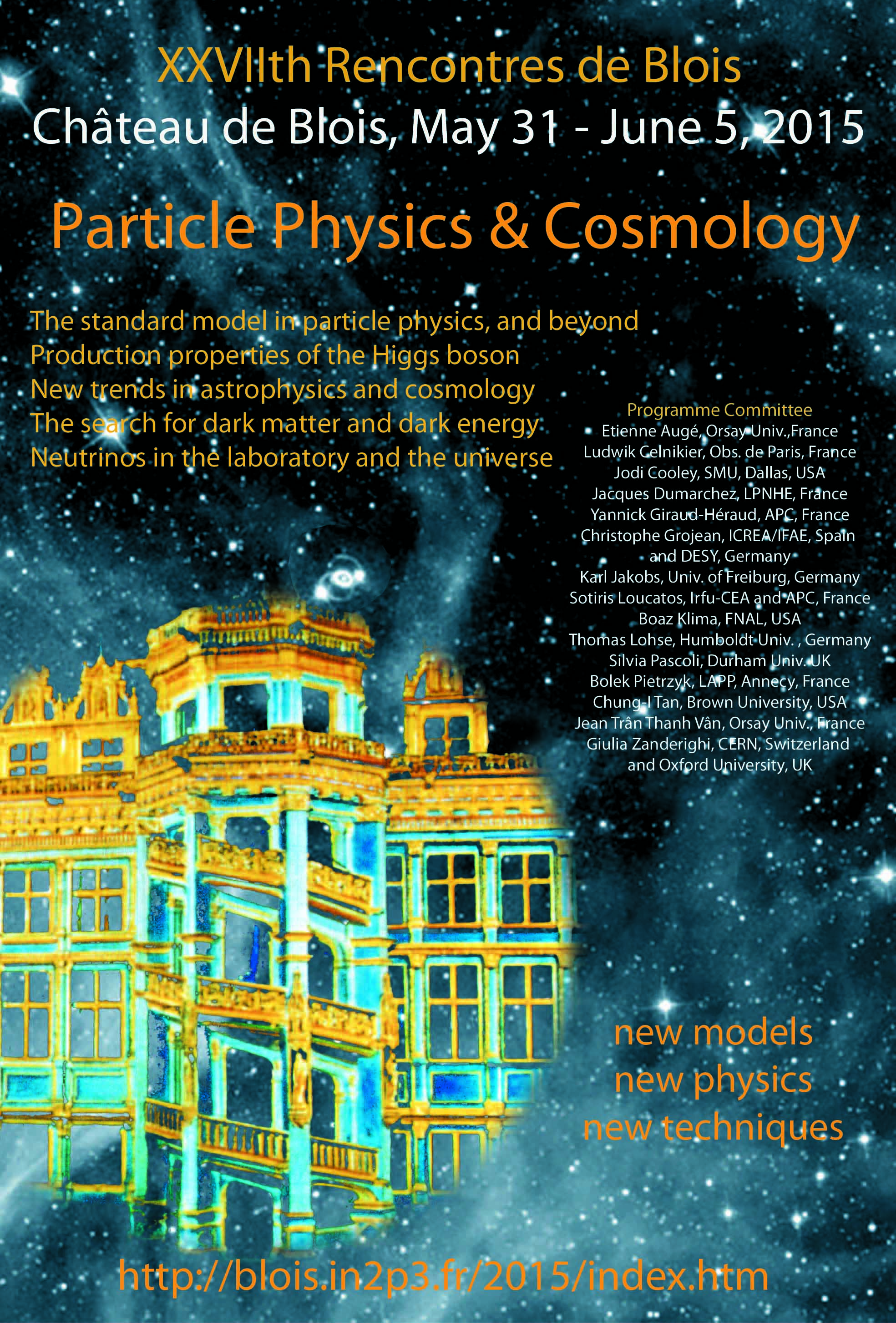 26th rencontres de blois on particle physics and cosmology